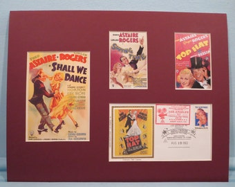 Shall We Dance, Top Hat & Swing Time - The Fims of Fred Astaire and Ginger Rogers and commemorative envelope