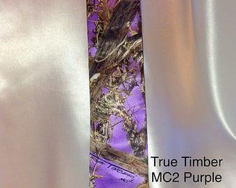 Purple CAMO Mens Tie