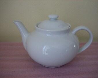 Vintage White Ceramic Teapot - White Tea Pots