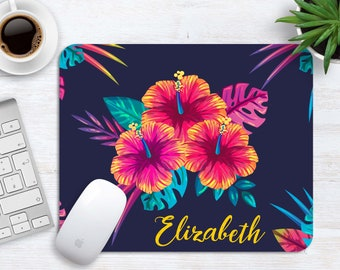 Personalized Mouse Pad, Office Desk Accessories, Office Decor, Tropic Mousepad, Desk Accessories for Women, Work Mouse Pad, Office Gift