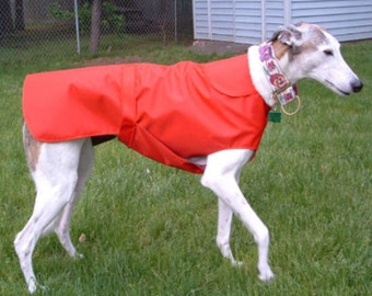R6 Light Weight Red Greyhound Raincoat.  Free Shipping!