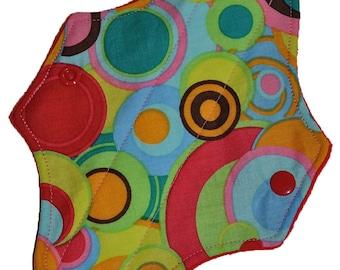 Liner Core- Rainbow Dots Reusable Cloth Mini Pad- WindPro 7.5 Inches (19 cm)