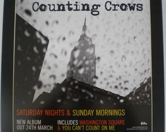 COUNTING CROWS Saturday Nights & Sunday Mornings Shop Display Poster In A Mount