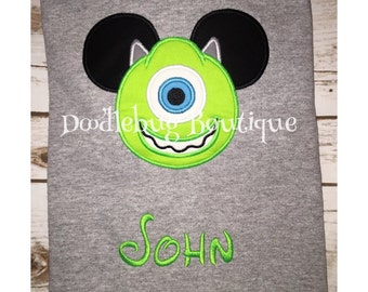 Mike the Monster Mickey shirt with name