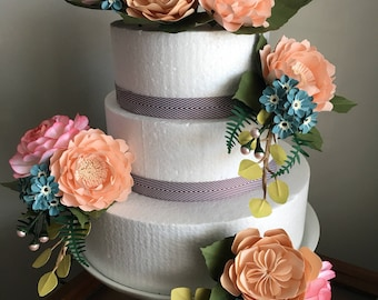 Stunning paper cake flowers....perfectly made just for you