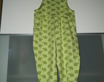 Dungarees turtles 92/98 green trousers with stars