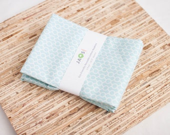 Large Cloth Napkins - Set of 4 - (N4452) - Ditsy Rings Pale Blue Modern Reusable Fabric Napkins