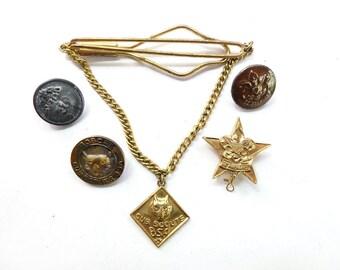 Cub Scout Memorabilia, Buttons, Pins, Tie Bar