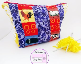 Project bag PDF sewing pattern,large make up bag tutorial,mini purse pattern,quilt pattern,bag making tutorial,zip top bag sewing pattern