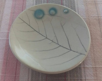 Leaf Pressed  Small Plate, teabag holder, teabag rest, ring holder