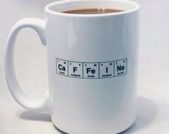 Coffee elements mug etsy coffee mug caffeine periodic table of the elements caffeine urtaz Gallery