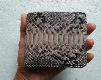 Genuine Python Snake Skin Leather Mens Bifold Wallet Natural + FREE SHIPPING