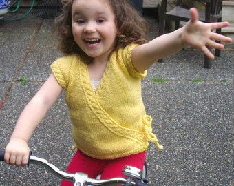 Aibhlinn Cross-over top for Toddler+ PDF knitting pattern