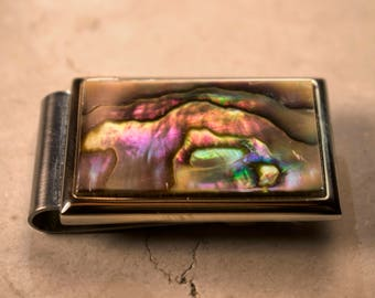 Money Clip: Blue Abalone