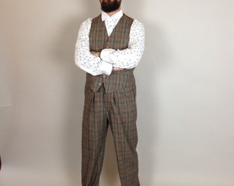 vintage style shirt with detachable collar, grandpa shirt, Edwardian style mens shirt, dandelion print mens shirt, 1920's,