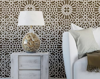 Reusable Wall Moroccan Stencil Ain Beida, Allover Stencil for Home Decorating