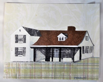 Farmhouse.  Original Collage.