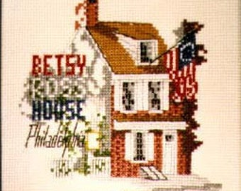 The Betsy Ross House counted cross stitch KIT