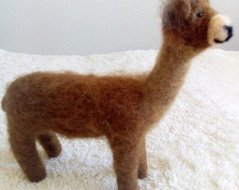 Needle Felted Alpaca Soft Sculpture