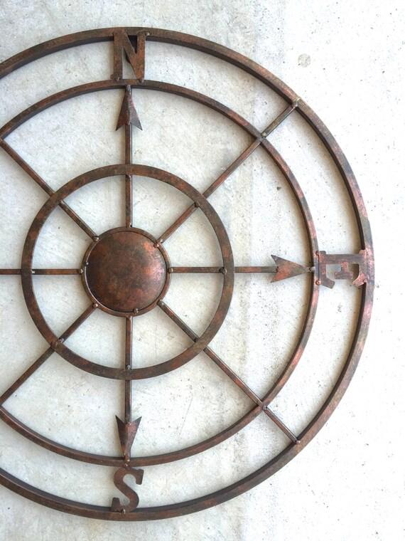 Nautical Compass Nautical Decor Metal Compass Wall Art