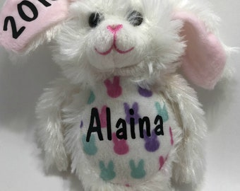 Personalized Bunny Plush, Floppy Bunny, Bunny Plushie, Bunny Stuffed Animal, Easter Basket Filler, Easter Gift for Kids, Easter Bunny Plush