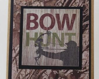 Bow Hunt Birthday Card