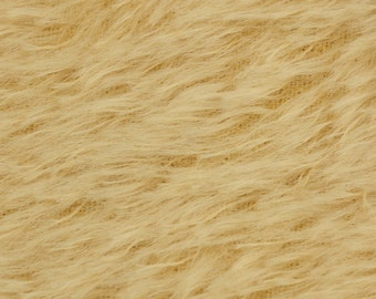 """10% OFF:  German Mohair Fabric, Light Gold, Straight, 16mm Pile, Size 18 x 28"""" 50001049"""