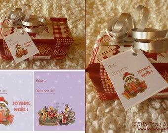 Set of 10 gift tags - 2 different designs