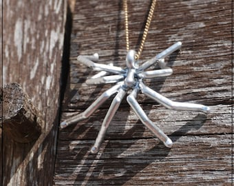 Spider pendant 3D printed (Silver)