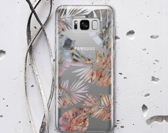 Tropical Leaves Samsung Galaxy Note 8 Case Galaxy S7 Case for Samsung S8 Case Floral Case for Samsung S7 Edge Case Samsung S9 Plus WC1261