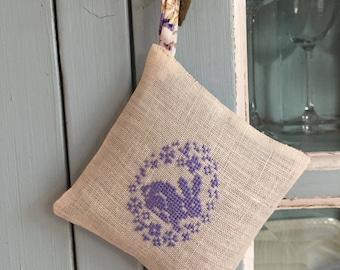 Handmade Easter Bunny Decor Lavender Sachet Liberty of London Fabric