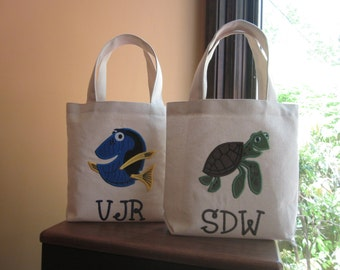 TOTE BAG Dory or Crush Personalized Toddler or Big Kid Tote