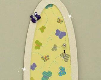 Busy Butterfly Fairy Door, Indoor Fairy Door, Skirting Board Fairy Door, Shelf Sitting Fairy Door, Handmade by Jennifer
