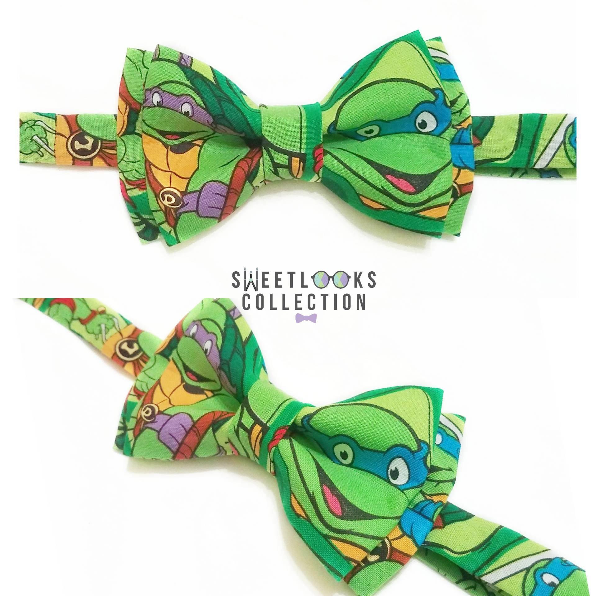 Bow tie or hair bow green teenage mutant ninja turtles zoom ccuart Gallery