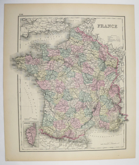 Vintage france map germany austria map switzerland 1876 ow te gusta este artculo gumiabroncs Gallery