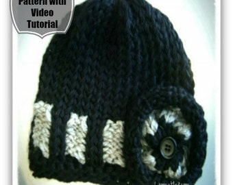 Loom Knitting Pattern Hat - The Belt Loop
