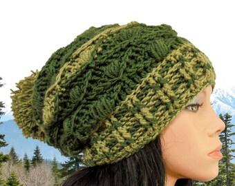 Crochet hat pattern Pom Pom hat pattern Crochet beanie pattern Crochet slouchy beanie pattern Chunky crochet hat pattern Crochet slouchy hat