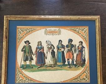 Abruzzo Italy Costumes Framed Print