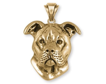 Pit bull pendant large charm and necklace pitbull charm pit bull pendant 14k yellow gold vermeil dog jewelry pt20 pvm aloadofball Choice Image