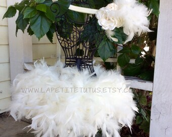 Ivory tutu, newborn tutu, feather skirt, tutu skirt, tutu, photo prop, baby clothing, princess tutu, angel tutu, baby photo prop, baby