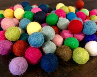 Felted Wool Balls infused with Catnip