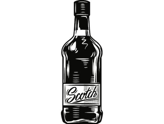 Alcohol botella 11 Whisky licor Copa bebida Cocktail Bar Pub