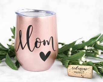 Mom Birthday Gift - Mom Gift - Mother's Day Gift - Mothers Day Gift - SWIG Wine Tumbler - Stainless Steel Tumbler w/ Lid