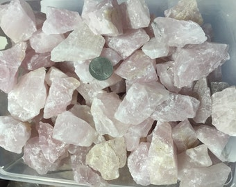 Wholesale 1lb+ Natural Rose Quartz Stones