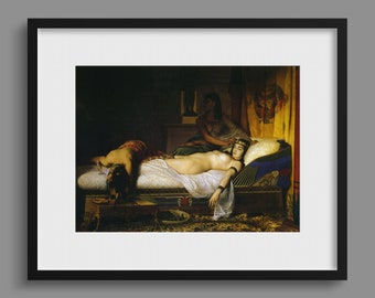 The Death of Cleopatra - Jean-André Rixens 1874