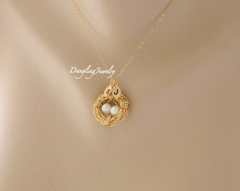 Bird nest jewelry Etsy