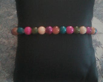 Beautiful multicolored glass bead bracelet