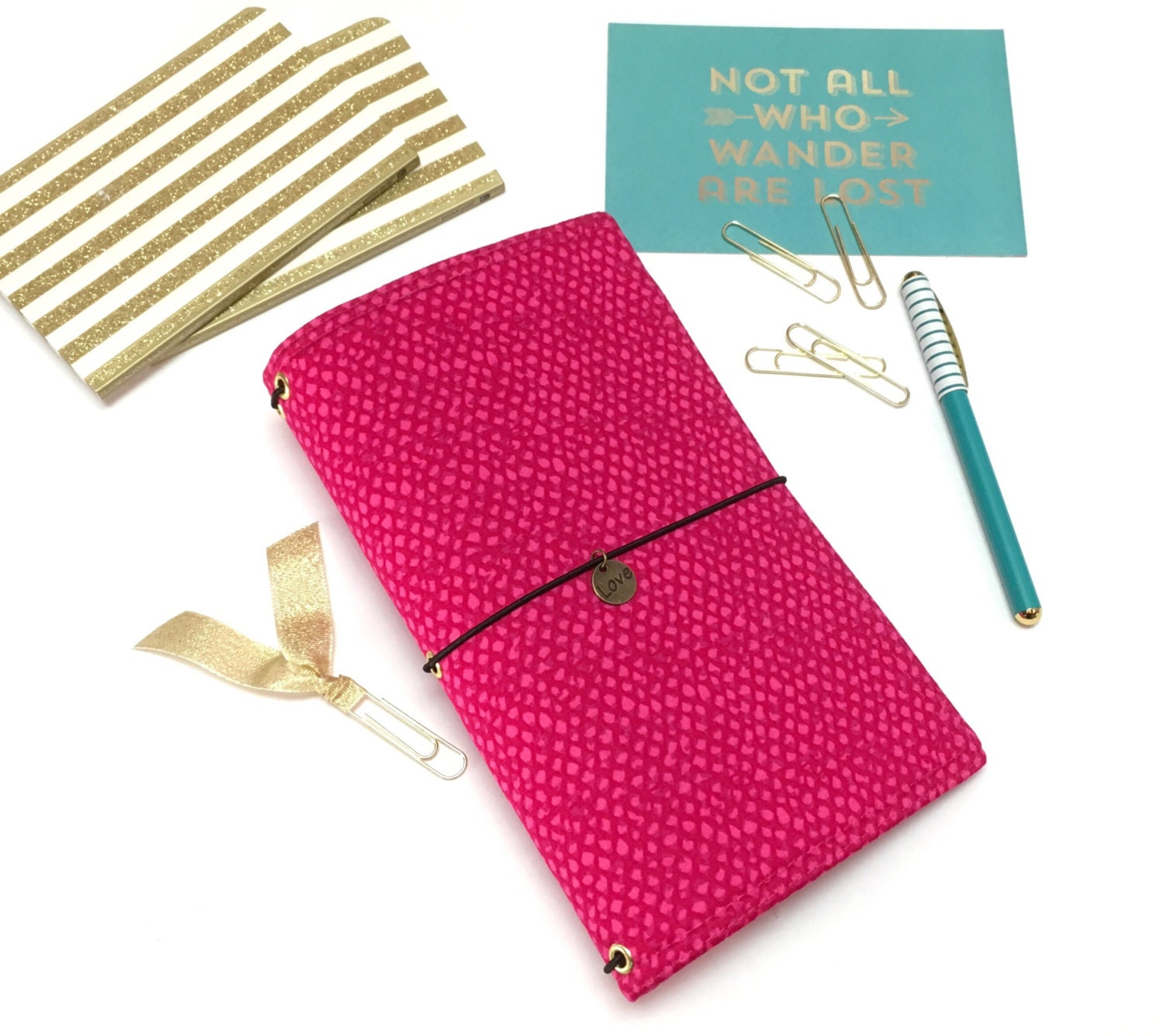 Pink fauxdori a6 travelers notebook faux dori planner cover zoom arubaitofo Images