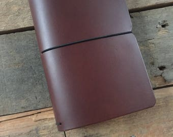 Leather Field Notes Cover // Moleskine Cahier small Size