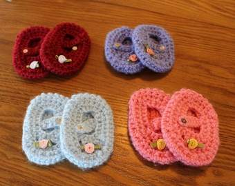 Crocheted Baby Mary Janes